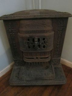 Antique Mity Oak Pot Belly Stove 115 Dad Use To Burn This In His Man Cave Blast From The