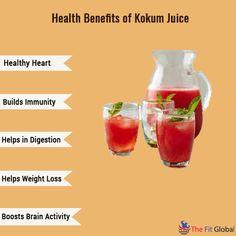 Health Benefits of Kokum Juice #heart #weightloss #healthy #thefitglobal