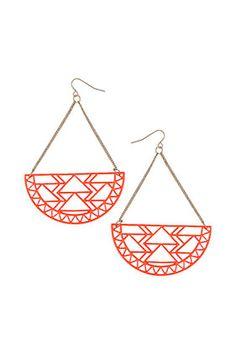 Aztec Cut Out Earrings