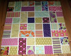 Double Slice Layer Cake Pattern | Ariane Quilts: A quilt top in progress....