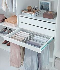 Idéia para calças. www.organizarsempre.com.br