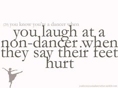 """dance problems - this kid was like """"I'm a soccer player. I know more about blisters"""""""