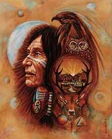 Shamanism encompasses the belief that shamans are intermediaries or messengers between the human world and the spirit worlds. Shamans are said to treat ailments/illness by mending the soul. Alleviating traumas affecting the soul/spirit restores the physical body of the individual to balance and wholeness. The shaman also enters supernatural realms or dimensions to obtain solutions to problems afflicting the community.