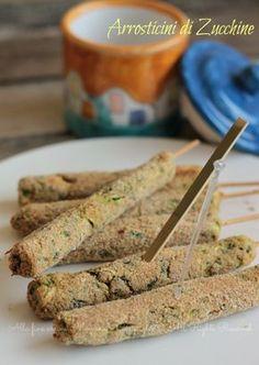 Arrosticini di zucchine Ricetta bambini, un contorno veloce e delizioso! Pochi ingredienti, sani e genuini; non occorre carne, solo zucchine e un uovo.