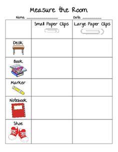 paper clip measurement preschool science pinterest measurement worksheets homeschool math. Black Bedroom Furniture Sets. Home Design Ideas