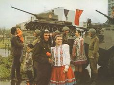 Soviet soldiers in Czechoslovakia during the Warsaw Pact intervention
