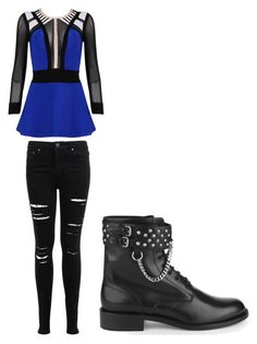 """""""Untitled #29"""" by kristal-richter on Polyvore featuring Miss Selfridge, Posh Girl and Yves Saint Laurent"""