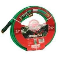 "Weather Flex Garden Hose, 5/8"""""""" x 25', with Standard Water Threads, Reinforced, Kink Resistant"