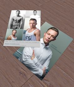 Fotoretusche und Designentwurf für eine Sedcard - im Auftrag für Foto Jörgler