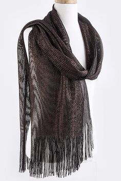 Chocolate Shimmer Scarf