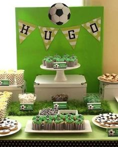 Hugo's Birthday Party – Soccer Theme Soccer Birthday Parties, Football Birthday, Soccer Party, Sports Party, Birthday Party Themes, Football Soccer, Soccer Ball, Diy Fest, Party Themes For Boys