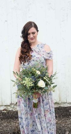 Floral bridesmaid dress - A Mediterranean, Biblical-Inspired Style Shoot | WeddingDay Magazine