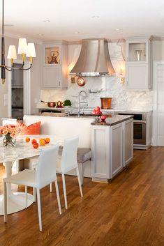 Unifying Banquette,TerraCotta Properties,Kitchen #BreakFast #Nook #Kitchen #Home  #IrvineHome  ༺༺  ❤ ℭƘ ༻༻