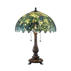 Quoizel glenhaven table lamp glass shades craftsman and glass glass mozeypictures Gallery