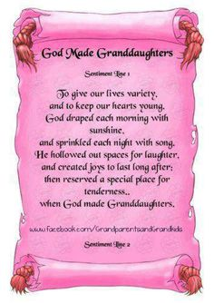 GOD MADE GRANDAUGHTERS