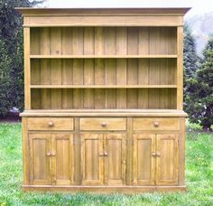 English Farmhouse Furniture - French Country Buffet Rustic Farm Sideboard English Country Server Hutch Cupboard