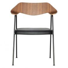 Robin Day 675 Chair Walnut & Black