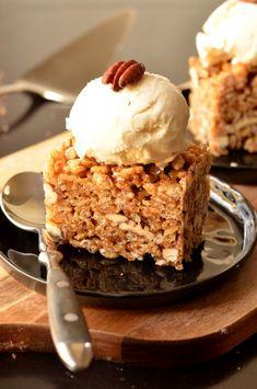 Pecan Pie Rice Krispie Treats (Vegan)
