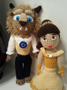 CROCHET INSTRUCTIONS to make Beauty and The Beast by JeSsMade4yOu  http://pinterest.com/lowati/amigurami-bekende-figuren/