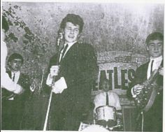 "I don't have a BOARD called ""DANG! You IS STOOPID"" but if i did... I'd post this first: Pete Best up front & Paul McCartney on the drums at the Cavern... _______ #earlybeatles"