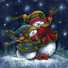 """*SNOWMEN ~ """"A Winter Hug"""""""