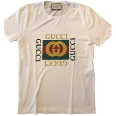 Pre-owned Gucci White Cotton T-Shirt ($714) ❤ liked on Polyvore featuring men's fashion, men's clothing, men's shirts, men's t-shirts, men clothing t-shirts, white, gucci mens t shirt, mens cotton t shirts, gucci mens shirts and mens cotton shirts