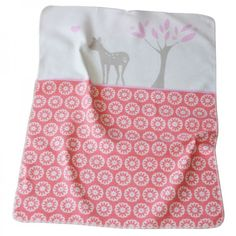 Babydecke Juwel Bambi rot-orange 70x90 cm - David Fussenegger #blanket #spread #quilt #cotton #deer