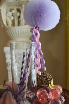 Hey, I found this really awesome Etsy listing at https://www.etsy.com/listing/125682305/lavender-joy-toy-tulle-puff-magic-wand