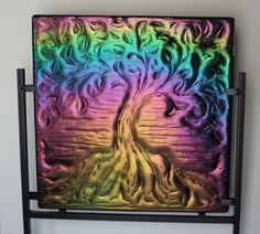 Home Decor Tree of Life Glass Art by Smokeylady54 on Etsy, $200.00