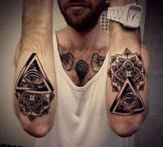 Illuminati Maori Tattoo Forearm - http://tattootodesign.com/illuminati-maori-tattoo-forearm/ | #Tattoo, #Tattooed, #Tattoos