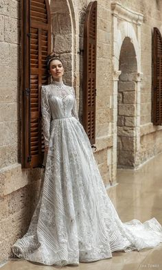 ida torez 2021 bridal long sleeve high neckline fully embellished lace a line ball gown wedding dress chapel train (9) mv -- Ida Torez 2021 Wedding Dresses | Wedding Inspirasi  #wedding #weddings #bridal #weddingdress #weddingdresses #bride #fashion #collection:Seduction #label:IdaTorez #week:282020 #year:2021 ~ Wedding Dresses 2018, Designer Wedding Dresses, Bridal Dresses, Bridesmaid Dresses, Gown Wedding, Gorgeous Wedding Dress, Beautiful Bride, Beautiful Dresses, Gowns With Sleeves