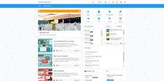 News intranet design template