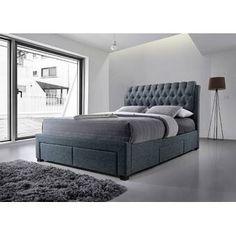 Belerda Upholstered Storage Bed Home Loft Concept Colour: Grey, Size: Double Ottoman Storage Bed, Ottoman Bed, Linen Storage, Upholstered Bed Frame, Upholstered Ottoman, Bed Frame With Storage, Cheap Bed Sheets, Luxury Bedding Sets, Adjustable Beds