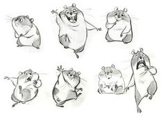 Living Lines Library: Bolt – Concept Art - Art Sketches Character Design Cartoon, Character Design Animation, Character Design References, Comic Character, Character Poses, Character Drawing, Character Illustration, Animal Sketches, Animal Drawings