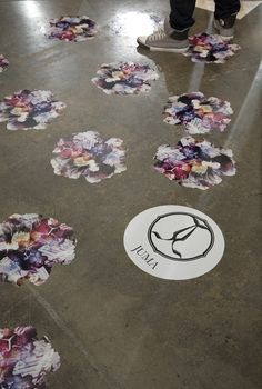 Floor as a surface for art/message/brand
