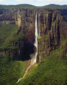 Angel Falls in Venezuela  is one of the most impressive waterfalls in the world.