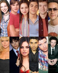 The cast of That 70's Show, then and now