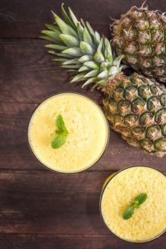 Feeling tropical this morning? Try this Virgin Pina Colada Smoothie Recipe (dairy-free, vegan, optionally paleo)