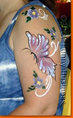 Butterfly arm face painting design