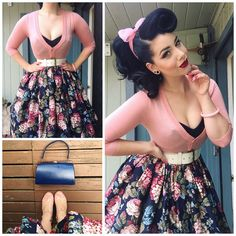 Inspo for: outfit/hair miss victory violet ropa de los años moda retro, Looks Rockabilly, Mode Rockabilly, Rockabilly Makeup, 50s Makeup, Rockabilly Dresses, Makeup Tips, Crazy Makeup, Makeup Art, 50s Hair And Makeup