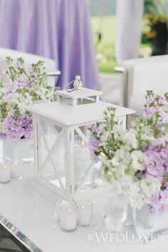 lila and white wedding, via Pinterest
