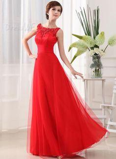 Elegant Scoop Zipper-Up Beading Applique A-Line Floor Length Prom Dress 10923878 - Evening Dresses 2014 - Dresswe.Com
