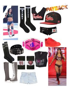 AJ Lee vs. Nikki Bella for the Divas Intercontinental title tonight at Payback (@justefan's Federation) by thatwwefangirl on Polyvore featuring WWE, MANGO, Converse, NIKE and FAUSTO PUGLISI