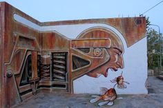 Street art in Greece by WD aka Wild Drawing #greece #wd #wilddrawings #streetart