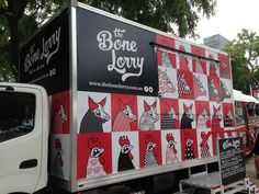 The Bone Lorry @ The World Science Fair, South Bank, Brisbane 12/03/2016. Black, white and red vector graphic design/branding.