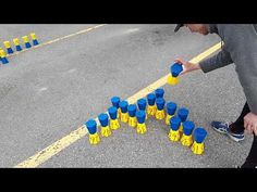 Word Relay Video: Create words with Toppletubes or just use cups. When one players has used all letters all players run to get another letter. Physical Education Games, Health Education, Physical Activities, Gross Motor Activities, Gross Motor Skills, Gym Games, Cooperative Games, Brain Gym, All Team