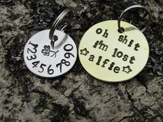 Custom Hand Stamped Pet ID Tag with Dog by Northumbrianstamping, £8.00
