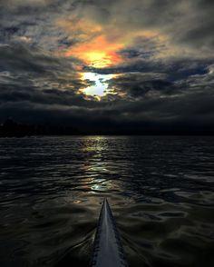 Solo OC1 Outrigger Canoe :: Vancouver English Bay :: Don Urquhart