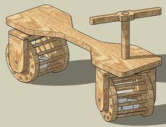 Kids Walker Car Construction Plans Woodworking by woodworkingplans, $4.97