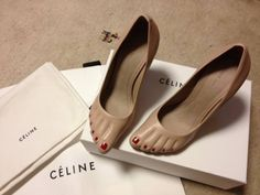 Nudie cone heel pumps, Céline